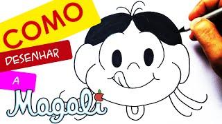 TUTORIAL: Como desenhar a Magali! Cómo dibujar Magali!