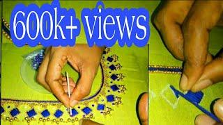 Thread work in normal needle stitch same like aari