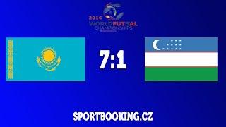 Match review UZBEKISTAN VS KAZAKHSTAN, ROUND 6 (World Futsal Championship 2016)