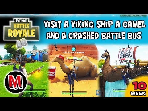 Visit A Viking Ship A Camel And A Crashed Battle Bus Fortnite Season 6 Week 10 Challenge