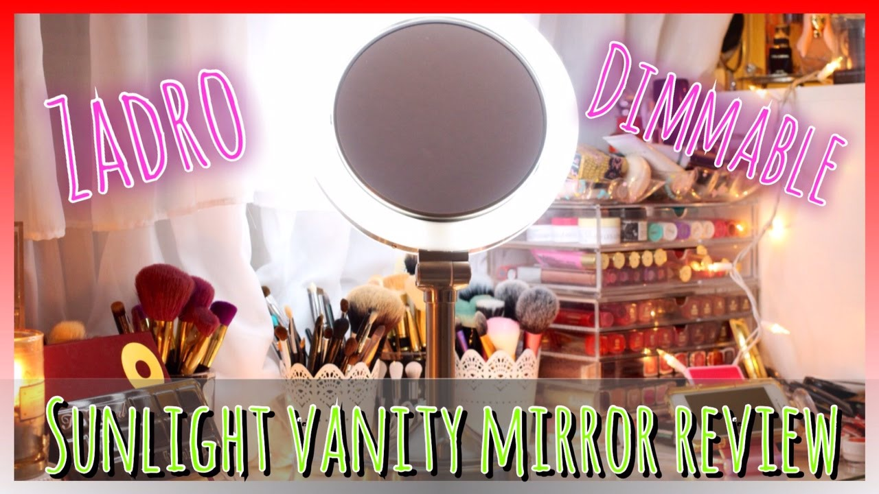 Zadro dimmable sunlight vanity mirror review vlogmas 9 youtube aloadofball Image collections