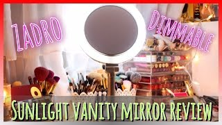 Zadro Dimmable Sunlight Vanity Mirror Review | Vlogmas #9