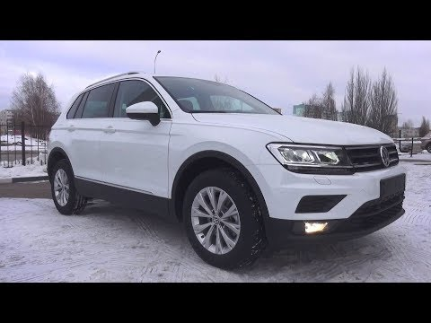 Compact Crossover. 2018 Volkswagen Tiguan. Start Up, Engine,