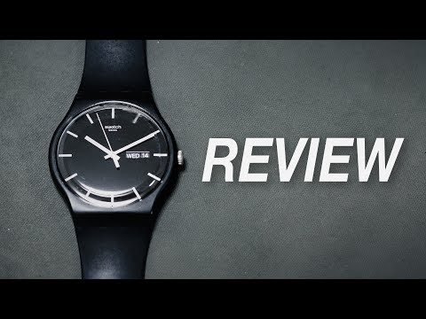 Minimalist Watch By Swatch - Swatch Mono Black Review (Swatch SUOB720)