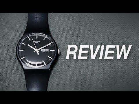 Minimalist Watch By Swatch - Swatch Mono Black Review (Swatch SUOB720)