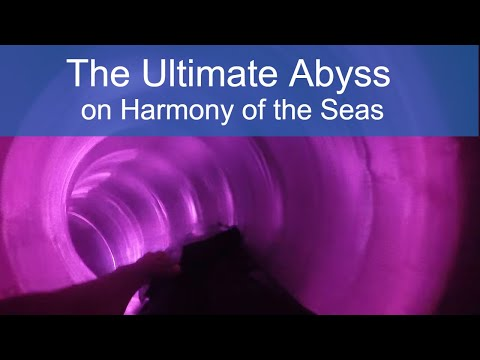 Cruise Critic tries The Ultimate Abyss Slide on Harmony of the Seas - POV Video