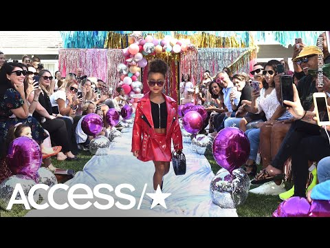 North West Makes Her Runway Debut As Mom Kim Kardashian Cheers Her On