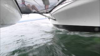 Sailing with friends in Everett Bay