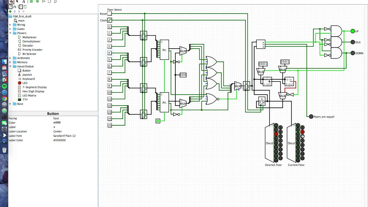 Fsm Simulation Vivek Gopalakrishnan Youtube Circuit Simulator 7segment Led Decoder