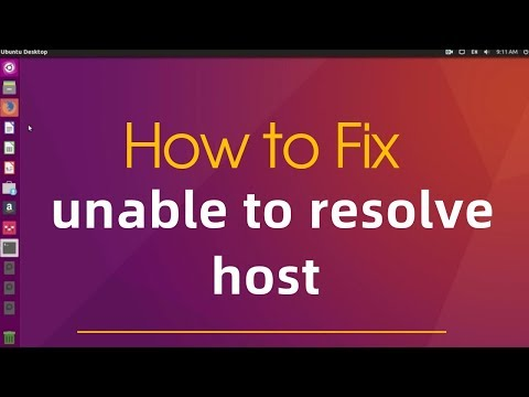 "How to fix error ""unable to resolve host"""