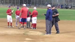 Crazy!! Coach punched by umpire!