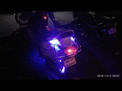 Rear Carrier Light installation in activa 3g by Creative modification