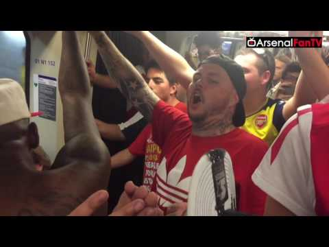 Arsenal Fans Take Over The French Metro (All Races Welcome)