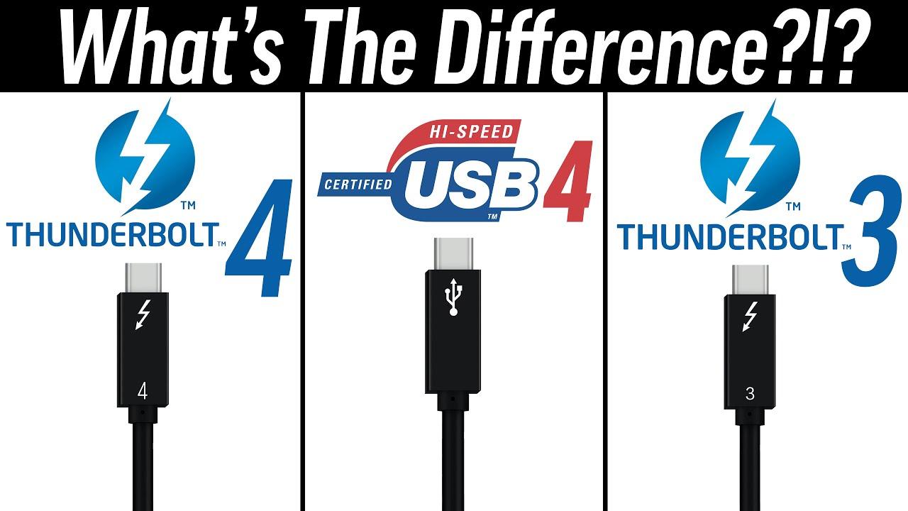 Thunderbolt 4 vs USB4 vs Thunderbolt 3 - What's Changed ...
