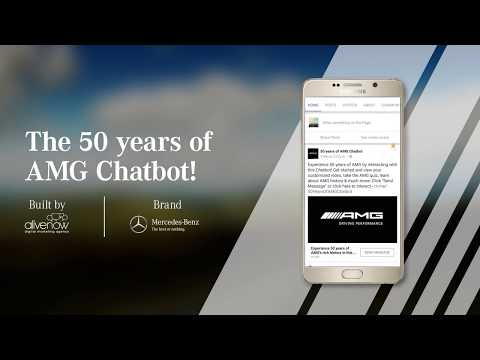 Mercedes-Benz Facebook Messenger Chatbot for 50 Years of AMG.