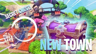 "SECRET CHEST! - New Town ""LUCKY LANDING"" Gameplay in Fortnite: Battle Royale"