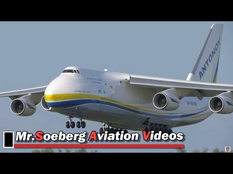 BEAUTIFUL AN124 Ruslan, UR-82008, Antonov Design Bureau, Arrival at Eindhoven