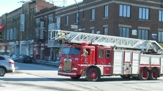 MONTREAL FIRE DEPT RESPONSE TO GAS LEAK ON COOLBROOK ST. / 02-09-19
