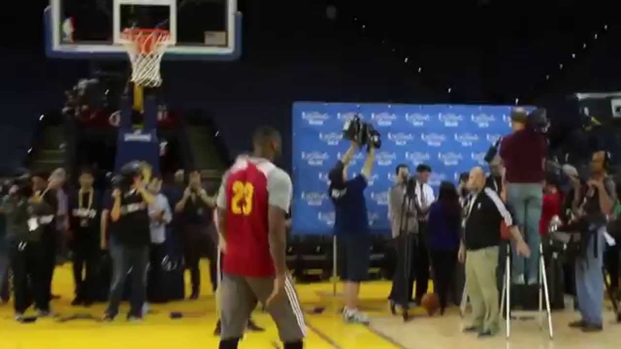 LeBron James 2015 NBA Finals Workout - YouTube