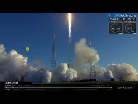 Space X Falcon 9 Rocket Launch From Cape Canaveral Florida 4/18/2018