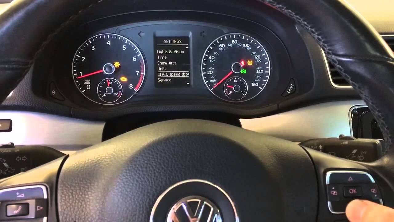 reset oil change reminder   volkswagen passat youtube