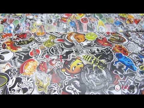 HG Arts | Sticker Bomb (HGA - US01) - Water Transfer Printing | Hydrographics