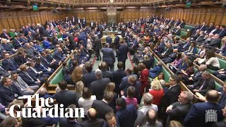 MPs vote to pass Boris Johnson's EU withdrawal bill by a 124 majority