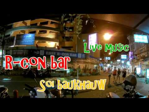 Soi Buakhao Pattaya easy R-con bar with live music - People watching