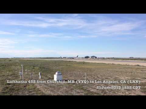 Lufthansa 452 Takeoff From YYQ (Churchill, MB)