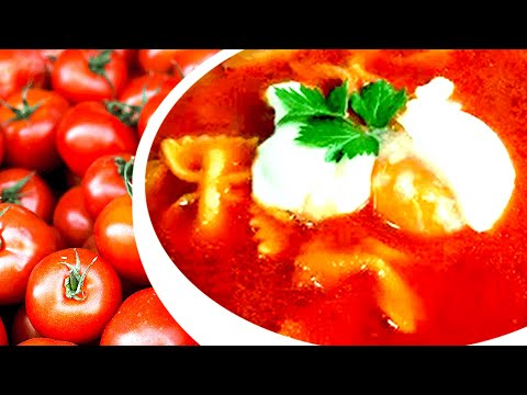 Super Tasty! Tomato Soup With Pasta And Egg - Easy Tomato Soup Recipe To Make Tomato Soup With Pasta