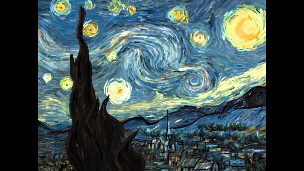 5 min la nuit toil e the starry night animation vincent van gogh hd youtube. Black Bedroom Furniture Sets. Home Design Ideas
