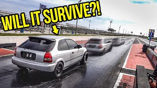 Download Racing My Cheap Ebay Honda Civic In The 1/4 Mile Was The Scariest Thing Ever (DISASTER) Mp3 and Videos