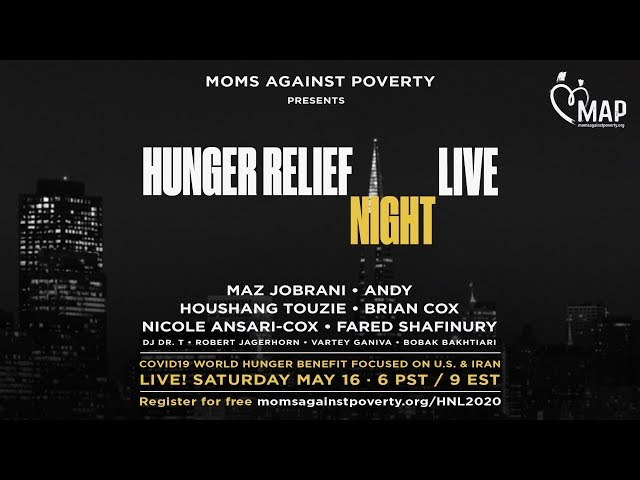 Hunger Relief Night LIVE Trailer | Moms Against Poverty fundraiser with Maz Jobrani, Andy, and more