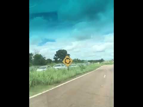RepórterMT -  Congestionamento em Chapada