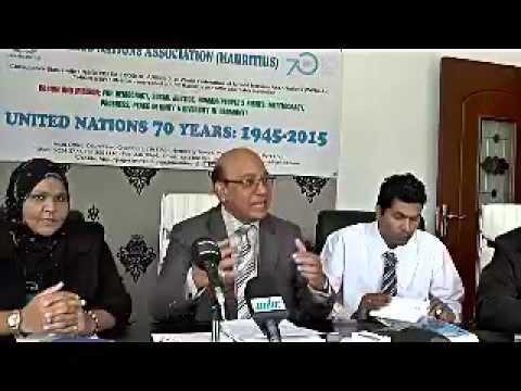 Conférence de presse de l'UNA (Mauritius)
