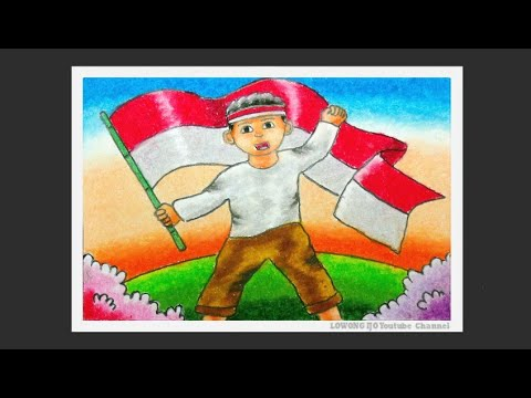 Cara Mewarnai Gambar Tema Hari Pahlawan Cara Mewarnai Bendera Merah Putih Youtube