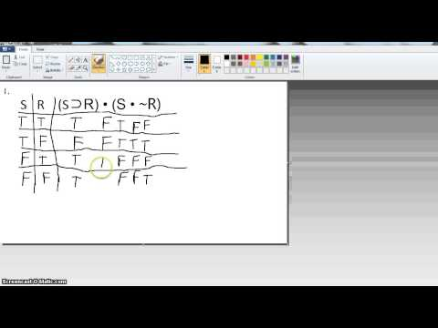 Part 3: Symbolic Logic (truth tables for statements, tautologies, contradictories, etc)
