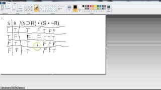 Part 3: Symbolic Logic (truth tables for statements, tautologies, contradictories, etc) Thumbnail