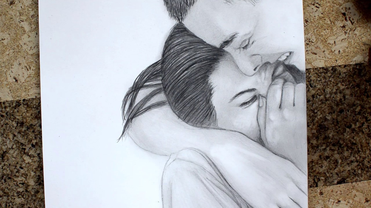 Couple love drawing timelapse