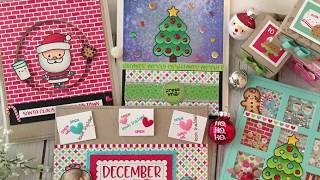 5 Cards in 5 Minutes / Simon Says Stamp / December 2017 Kit / Milk & Cookies