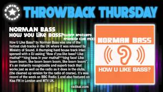 Norman Bass - How U Like Bass? (Warp Brothers Friendly Club Mix) (2001) Radikal THROWBACK THURSDAY