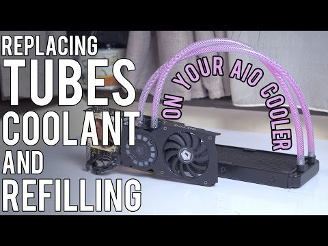 AIO cooler mods: replace TUBES, COOLANT and REFILLING
