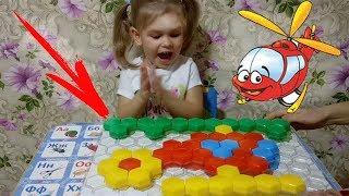 ИГРА МОЗАИКА.Обзор развивающей детской игрушки.Собираем ВЕРТОЛЕТ!