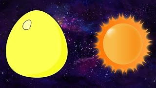 Animated Surprise Eggs English Lesson for Toddlers - The Solar System and Planets