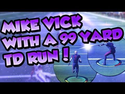 Madden 18 Ultimate Team :: Vick With EXPLOSIVE 99 Yard Rushing Touchdown! :: Madden 18 Ultimate Team