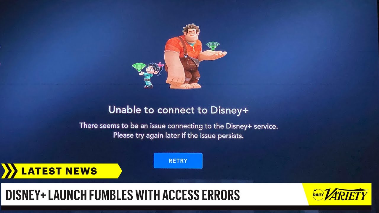 Disney Plus Suffers Major Technical Difficulties on Opening Day