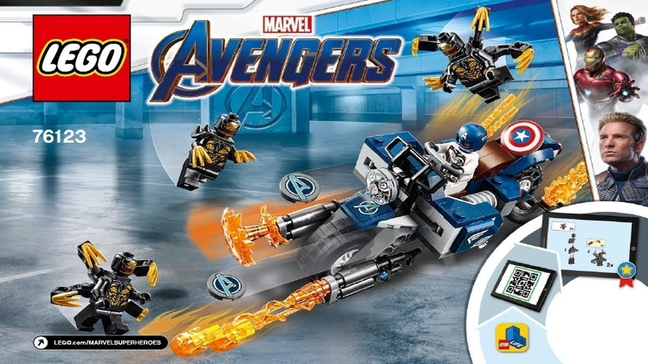outriders Attack LEGO Marvel Avengers Endgame 76123 Capitan America