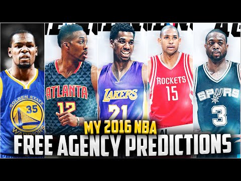2016 NBA Free Agency Predictions! Kevin Durant? Whiteside? Wade? Dwight? + More!!