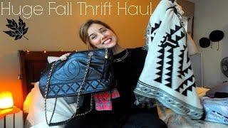 HUGE Fall Thrift Haul!!
