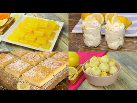 4 Delicious quick and easy lemon dessert recipes